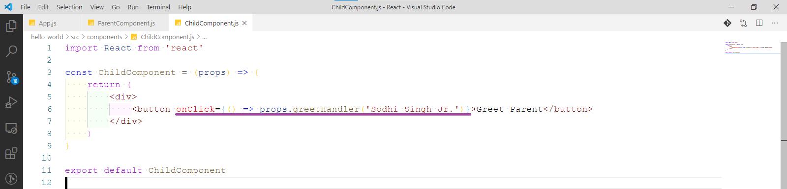 ChildComponent.js