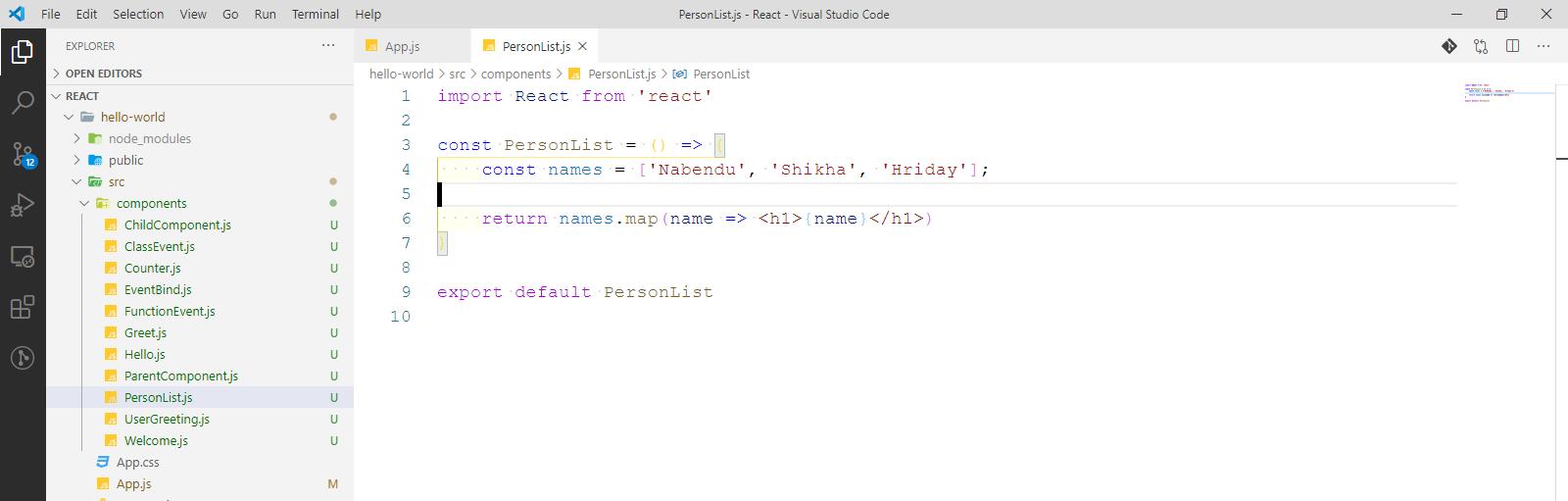 PersonList.js