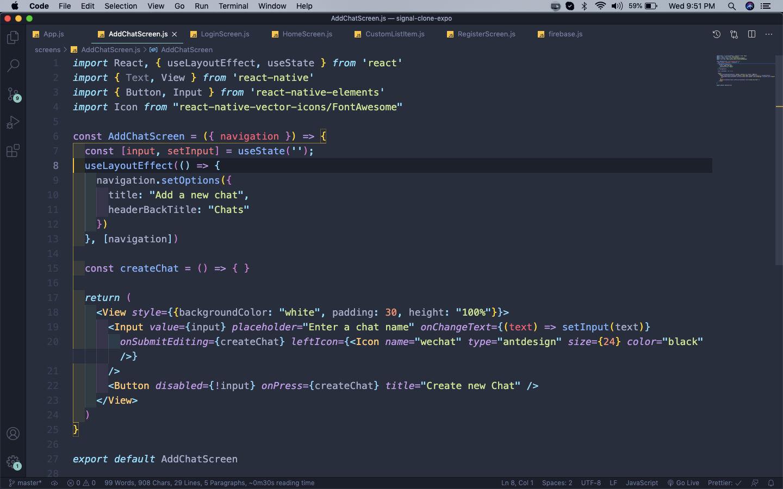 AddChatScreen.js