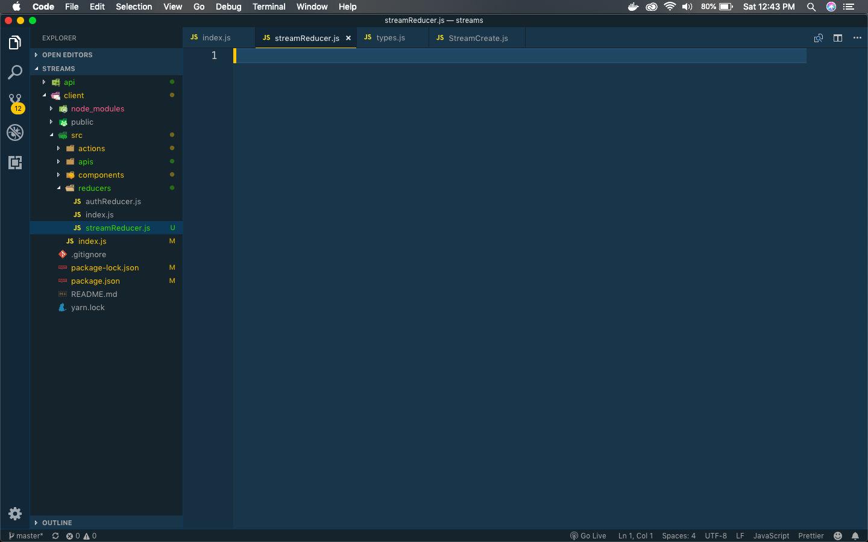 streamReducer.js file