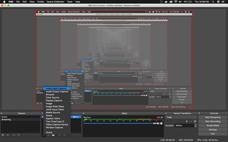 Audio Input Capture