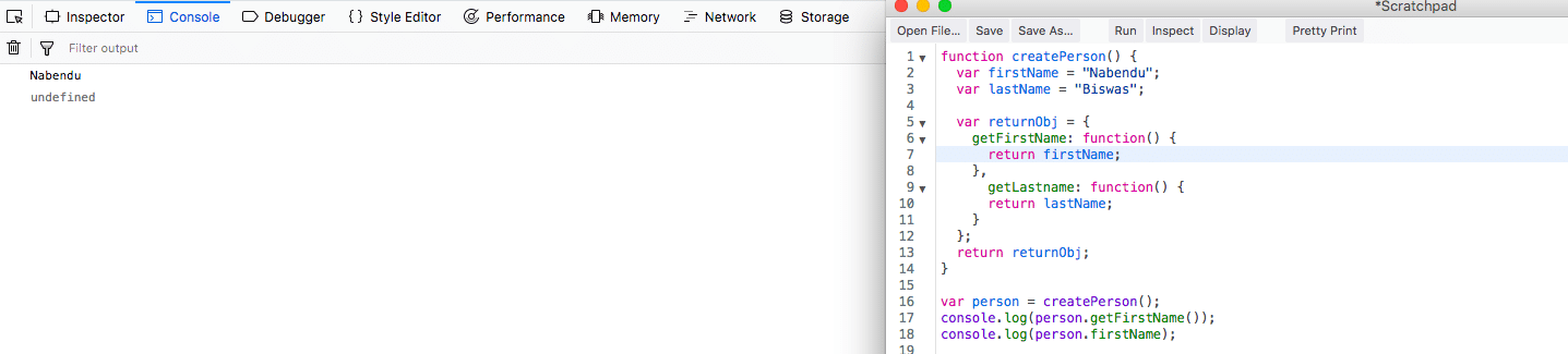 getters in Javascript
