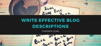 blog description, blog description examples, blogger description, example of a blog, what is search description in blogger