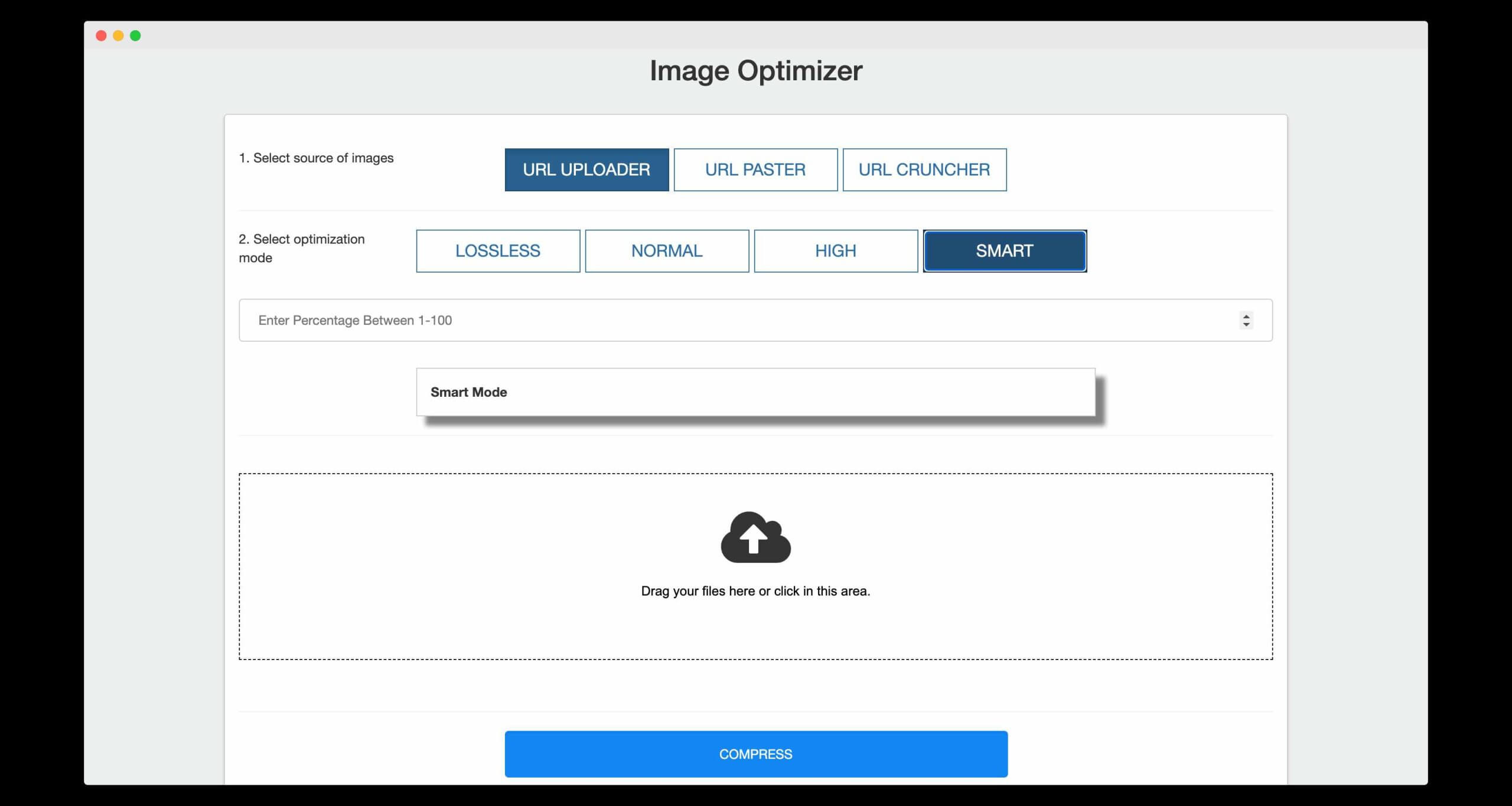 my own tool, image optimizer