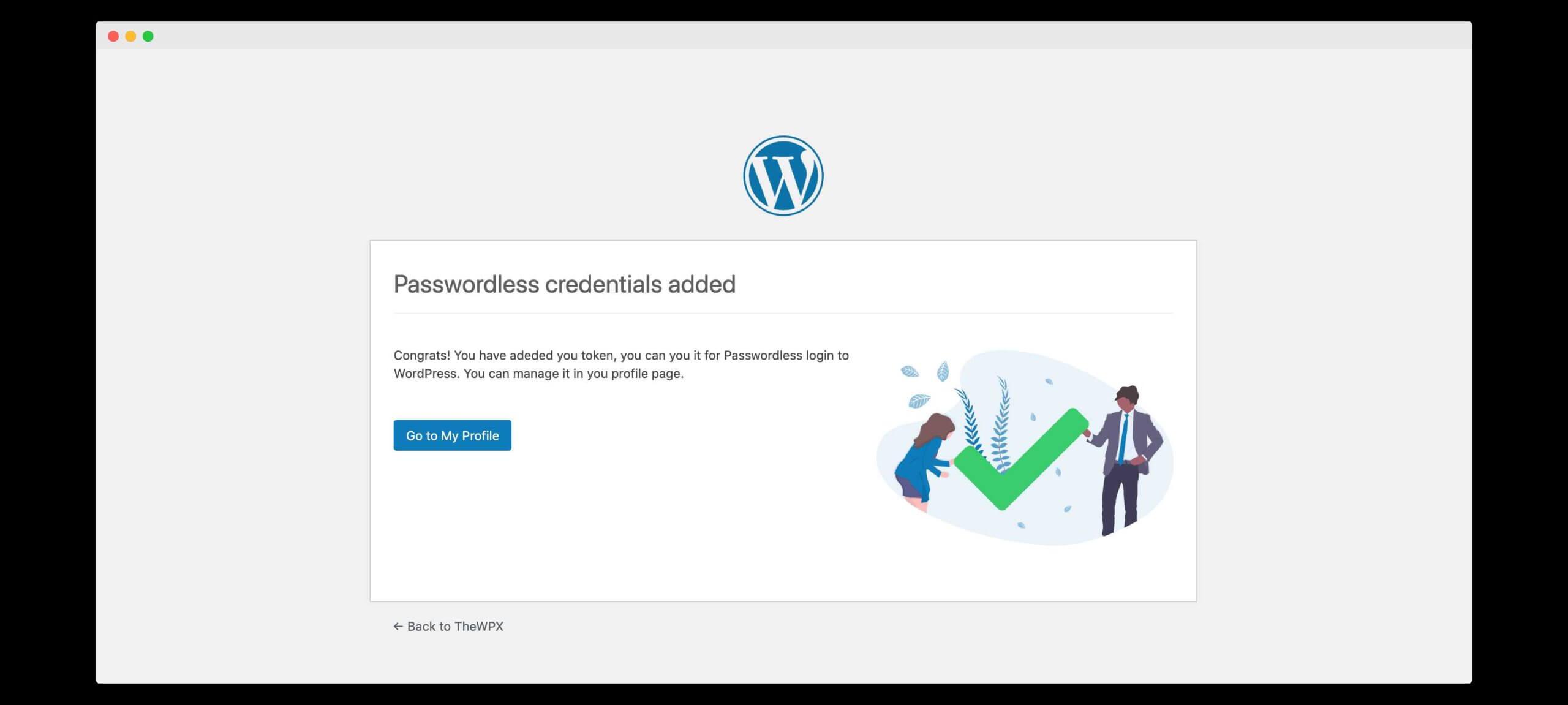 passwordless authentication success