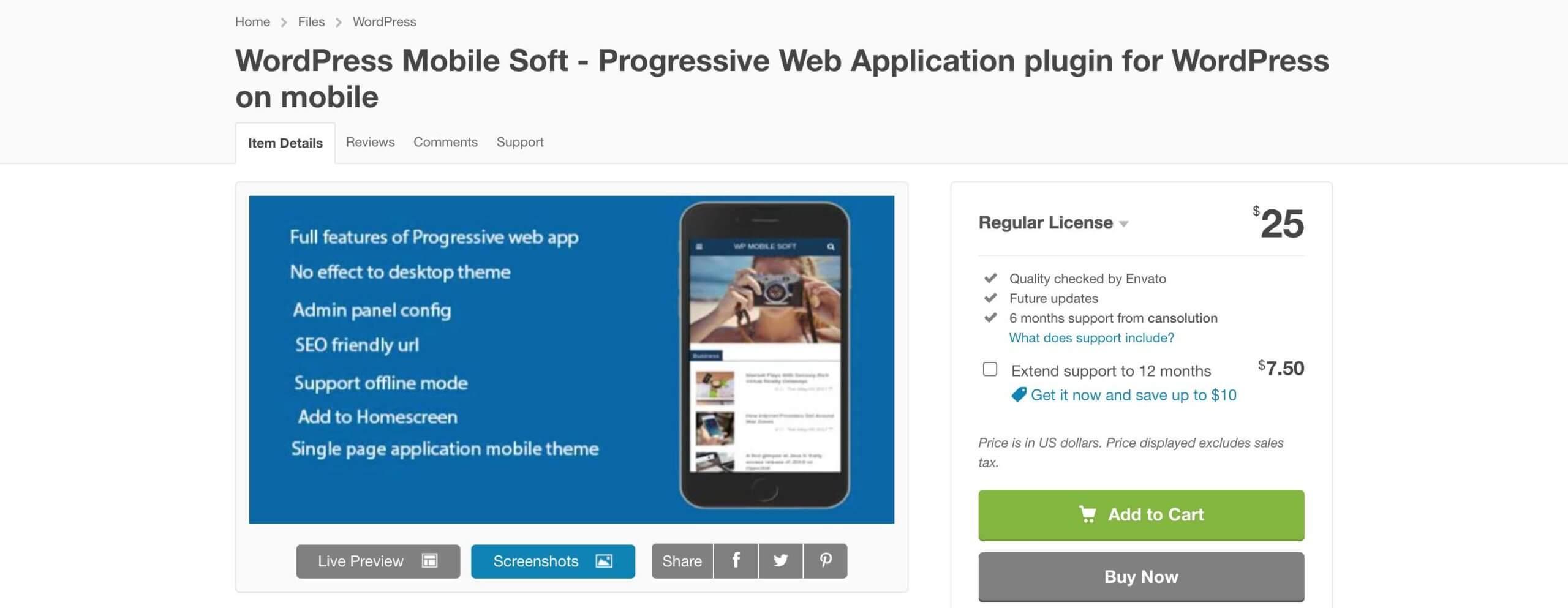 a wordpress plugin to enable pwa on website