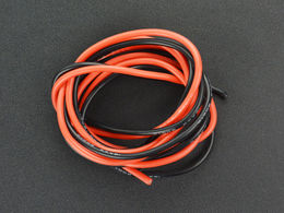 High Temperature Resistant Silicone Wire (16AWG 1.5mm2 1m Red & Black)