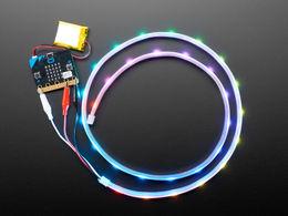 Adafruit NeoPixel LED Strip w/ Alligator Clips - 30 LEDs/meter