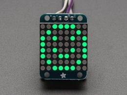 "Adafruit Mini 0.8"" 8x8 LED Matrix w/I2C Backpack - Pure Green"
