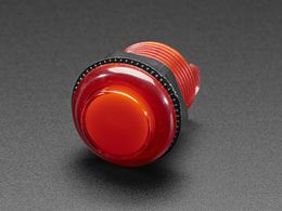 Arcade Button with LED - 30mm Translucent Red