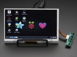 "HDMI 4 Pi: 7"" Display no Touchscreen 800x480 - HDMI/VGA/NTSC/PAL"