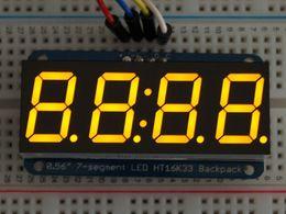 "Adafruit 0.56"" 4-Digit 7-Segment Display w/I2C Backpack - Yellow"