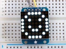 Adafruit Mini 8x8 LED Matrix w/I2C Backpack - Ultra Bright White