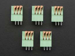 "Configurable Spring Terminal Blocks - 3 Pin 0.1"" Pitch x 5"