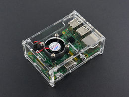 Transparent Acrylic Case for Pi B+/2B/3B (without cooling Fan)