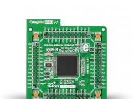 Mikroe EasyMx PRO v7 for Tiva C Series MCU card with TM4C123GH6PZL