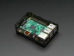 Raspberry Pi  Model B+/ Pi 2/3 Case - Smoke Gray Base - Clear Lid