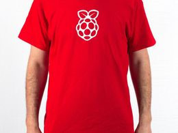 Raspberry Pi Men's T-shirt (Large)