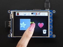"PiTFT Plus 320x240 3.2"" TFT + Resistive Touchscreen"