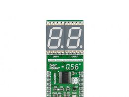 Mikroe UT-L 7-SEG R click - Ultra Thin 7 Segment RED LED Display w/ MAX6969 LED Driver