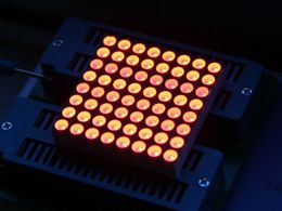 38mm 8*8 square matrix LED matched with Grove- Red Common Anode