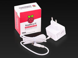Raspberry Pi 4 Official 15W USB C Power Supply (White)