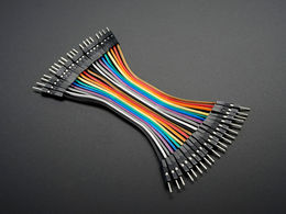 "Premium Male/Male Jumper Wires - 20 x 3"" (75mm)"