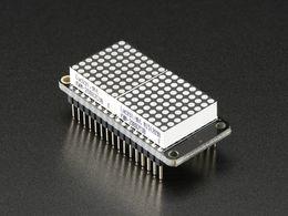 "Adafruit 0.8"" 8x16 LED Matrix FeatherWing Display - Yellow-Green"