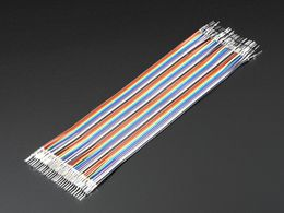 "Premium Male/Male Raw Jumper Wires - 40 x 6"" (150mm)"