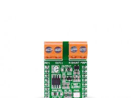 Mikroe Current click - INA196 Current Shunt monitor with MCP3201 12-bit ADC and MAX6106 Voltage Reference