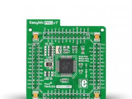 Mikroe EasyMx PRO v7 for Tiva C Series MCU card with TM4C123GH6PMI