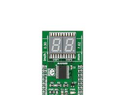 Mikroe UT-M 7-SEG R click - Ultra Thin 7 Segment RED LED Display w/ MAX6969 LED Driver