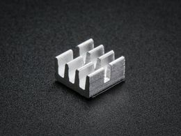"""Aluminum SMT Heat Sinks 10 Pack - 0.25""""x0.25"""" x 0.15"""" tall"""