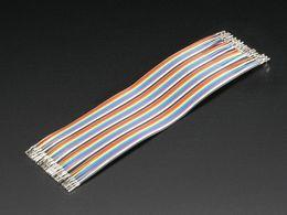 "Premium Female/Female Raw Custom Jumper Wires - 40 x 6"" (150mm)"