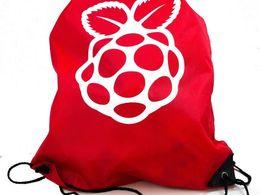 Raspberry Pi Red Drawstring Bag
