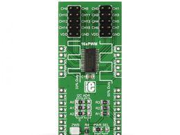 Mikroe PWM click - 16 Channel PWN Driver - PCA9685PW