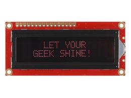 Basic 16x2 Character LCD - Red on Black 3.3V