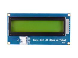 Grove - 16 x 2 LCD (Black on Yellow)