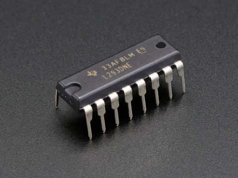 Dual 600mA H-Bridge Motor Driver for DC or Steppers - L293D