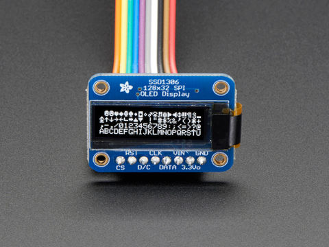 Monochrome 128x32 SPI OLED graphic display