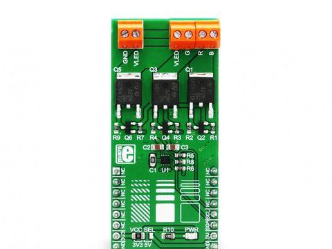 Mikroe RGB Driver click- Triple Output RGB LED Driver w/ I2C - NCP5623B