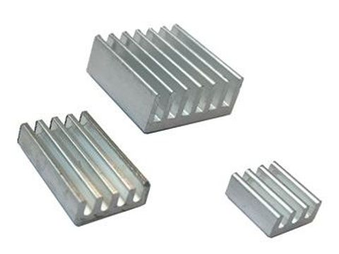 Aluminum Heatsink for Raspberry Pi - Pack of 3 (White)