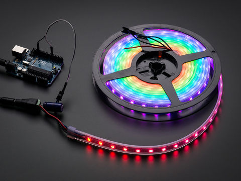 Adafruit NeoPixel RGB LED Strip - Black 60 LED - 1m