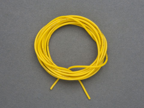 Super Flexible Stranded Core Yellow Silicone Cover Wire - 2m 26AWG