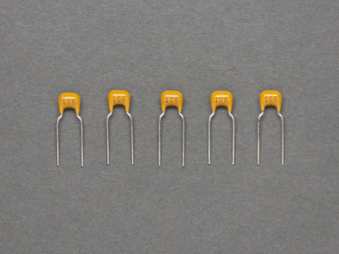 10 uF Ceramic Capacitors - Pack of 5