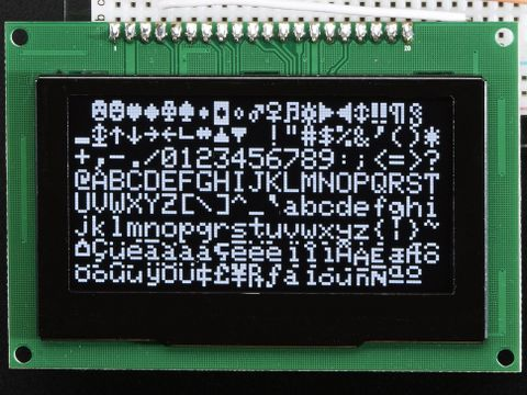 "Monochrome 2.7"" 128x64 OLED Graphic Display Module Kit"