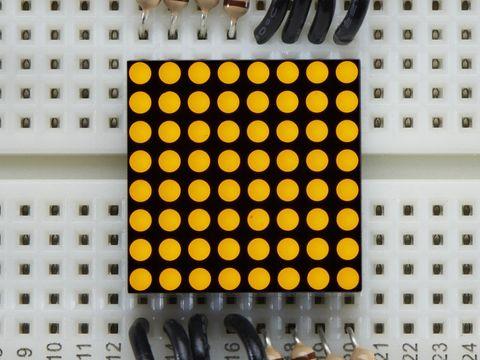 Miniature 8x8 Yellow LED Matrix