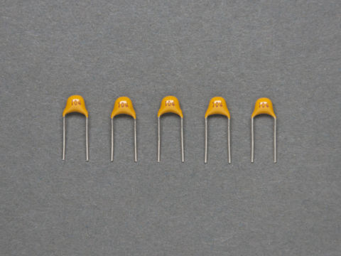 0.1 uF Ceramic Capacitors - Pack of 5