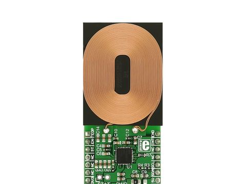 Mikroe Qi Receiver click - P9025AC 5W Qi Wireless Power Receiver w/ Advanced Foreign Object Detection (FOD)