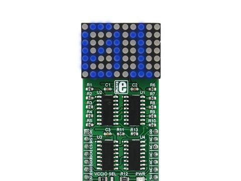 Mikroe 7x10 B click - Blue LED Dot Matrix Display